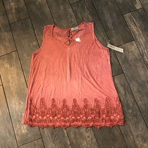 absolutly famous tank Top Blouse Pink XL
